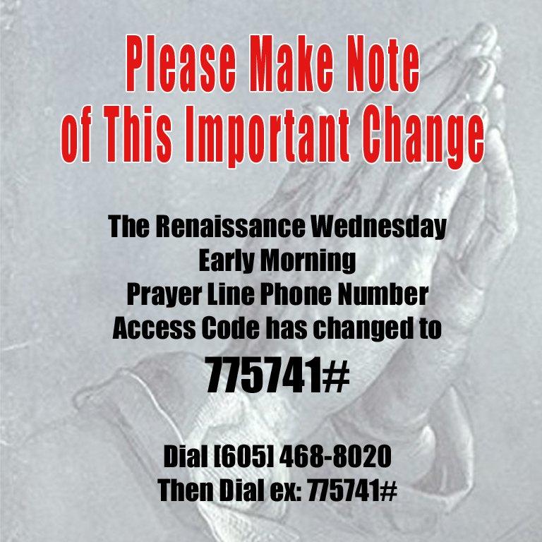 Wednesday Morning Prayer Line